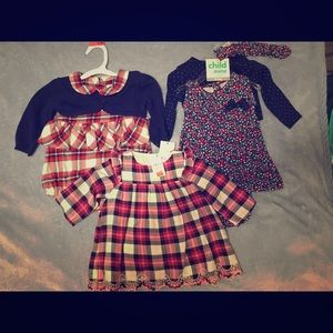 Three 3-6m girls dresses.